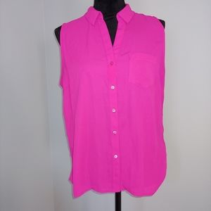 The Limited Ashton Pink Button-up Tank